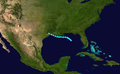 1946 Atlantic tropical storm 1 track.png