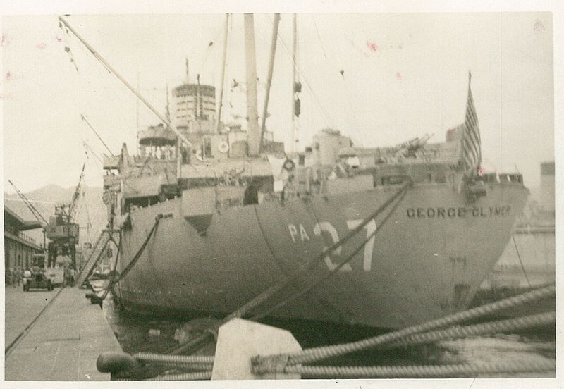 File:19500908 - USS George Clymer (APA-27) - Kobe, Japan.jpg