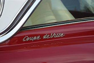 Cadillac de Ville series - Cadillac Coupe de Ville badging