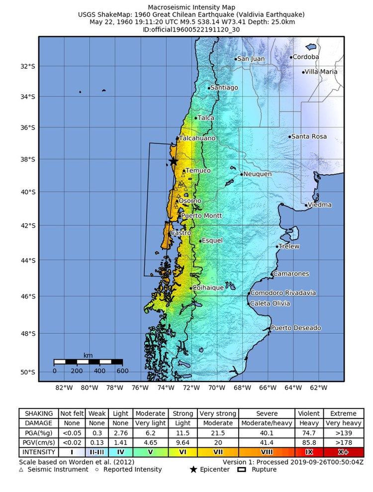 1960 Valdivia earthquake