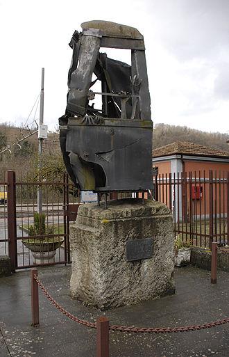 Italicus Express bombing - Italicus Express massacre memorial at the San Benedetto Val di Sambro railway station.