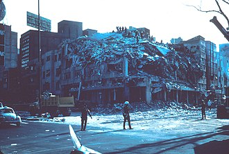 Cuauhtémoc, Mexico City - Earthquake damage in 1985