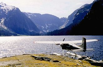 Floatplane - Floatplanes allow access to remote aquatic locations, such as Misty Fjords National Monument, Alaska, U.S.