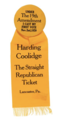 19th Amendment Voting Badge-Harding Coolidge Ticket 1920.png