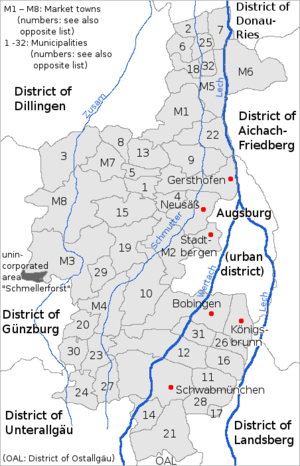 Augsburg (district) - the District of Augsburg