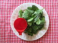 1 cup of raw salad leaves, for example raw spinach..JPG