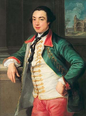 James Caulfeild, 1st Earl of Charlemont - Charlemont as painted by Pompeo Batoni, c. 1753-56.