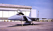 1st Tactical Fighter Wing First F-15A arrival at Langley AFB Jan 1976
