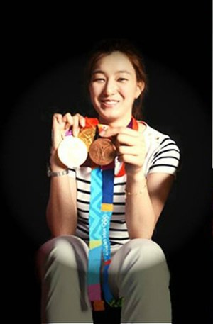 Hwang Kyung-seon - First woman to win three Olympic taekwondo medals