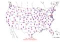 2005-09-04 Max-min Temperature Map NOAA.png