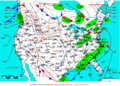 2007-01-22 Surface Weather Map NOAA.png