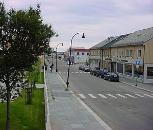 Vadsø - The street of Tollbugata in Vadsø