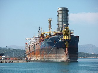 Floating production storage and offloading -  FPSO Firenze moored at Hellenic Shipyards, 2007