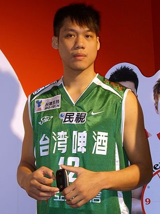 Lin Chih-chieh - Lin at the 2007 Taipei IT Month, in Taiwan Beer uniform