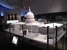 Models of the U.S. Capitol and another building