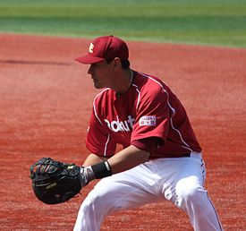 20120320 Luis García,infielder of the Tohoku Rakuten Golden Eagles,at Yokohama Stadium.JPG