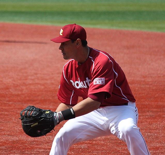 File:20120320 Luis García,infielder of the Tohoku Rakuten Golden Eagles,at Yokohama Stadium.JPG