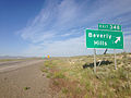 2014-06-10 17 52 31 Sign for Exit 348 along eastbound Interstate 80 in Beverly Hills, Nevada.JPG