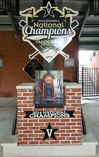 Vanderbilt Commodores baseball - 2014 NCAA National Championship Trophy