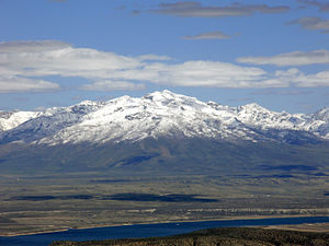 Ruby Dome - Image: 2015 04 26 14 51 54 View east from Grindstone Mountain, Nevada towards Ruby Dome enhanced 2