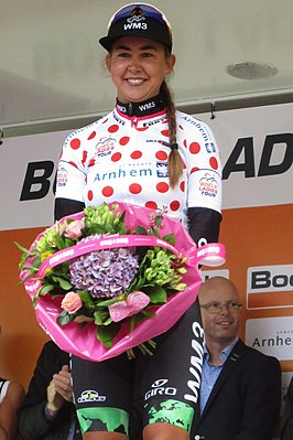 Anouska Koster in de Boels Ladies Tour 2017