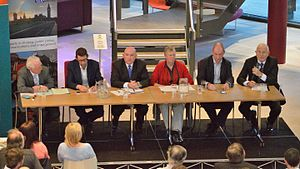 Stephen Williams (politician) - Williams in a 2017 West of England mayoral candidate Transport Infrastructure Debate at the Bristol and Bath Science Park
