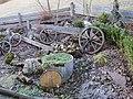 2018-03-13 (110) Old Cartwheels as garden decoration in Haltgraben, Frankenfels.jpg