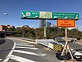 2018-10-31 11 30 51 View west along U.S. Route 50 (Theodore Roosevelt Bridge) at the exit for the George Washington Memorial Parkway, crossing the Potomac River from Washington, D.C. to Arlington County, Virginia.jpg
