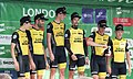 2018 Tour of Britain stage 8 - winning team Lotto-NL Jumbo.JPG