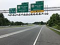 2019-06-05 16 30 53 View west along Interstate 195 (Metropolitan Boulevard) at Exit 2A (Maryland State Route 295 NORTH-Baltimore-Washington Parkway, Baltimore) in Linthicum, Anne Arundel County, Maryland.jpg