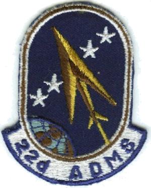 22d Air Defense Missile Squadron - Image: 22d Air Defense Missile Squadron ADC Emblem