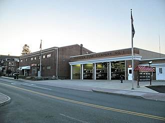 Ephrata, Pennsylvania - The Pioneer Fire Company and the Veterans of Foreign Wars facility