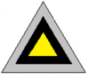 A three toned triangular organisational symbol