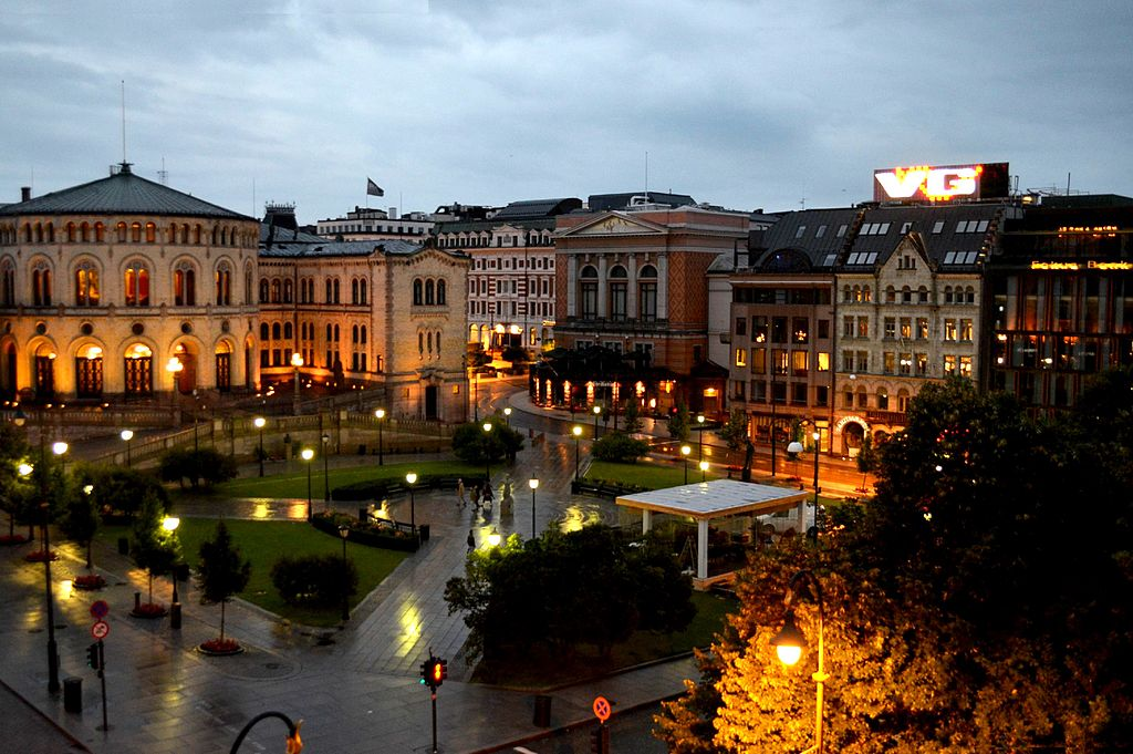 2 of 10 - Karl Johan Gate at Night, Oslo - NORWAY