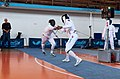 2nd Leonidas Pirgos Fencing Tournament. Double touch for the fencers Dimitrios Makris and Ahmed Alhoussain.jpg