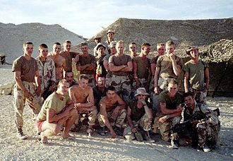 U.S. Marines from 3rd Battalion, 3rd Marines during the Desert Storm deployment in 1990-1991 3-3 India CO Desert Storm.jpg