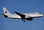 314bw - Qatar Airways Airbus A319-133 (LR), A7-CJA@ZRH,02.09.2004 - Flickr - Aero Icarus.jpg