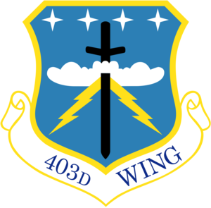 403d Operations Group - Emblem of the parent 403d Wing