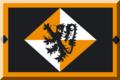 600px Nero bordato d'Arancione con rombi Bianchi e Arancio e fiera Nera.png