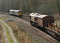 66015 & 158795 , chance meeting at Lower Pilsley (4518352854).jpg