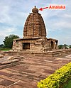 8th century Galaganatha temple Amalaka, Pattadakal monuments Karnataka.jpg