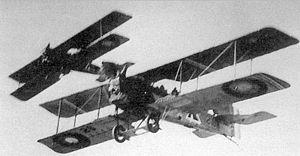 96th Aero Squadron - Breguet 14B2s Formation
