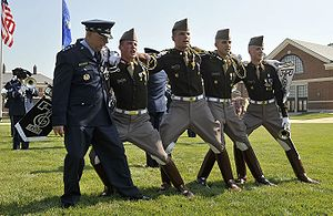 T. Michael Moseley - Image: A&M Cadets Moseley Retirement July 11 08
