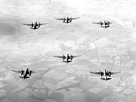 A-20s in bombing formation during World War II. - Douglas A-20 Havoc