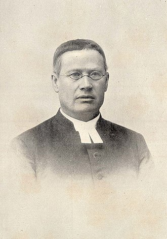Clerical collar - Image: A. Gustaf Mattsson 1901