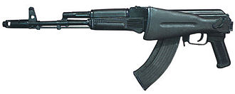 AK-103 - AK-103 with the stock folded.