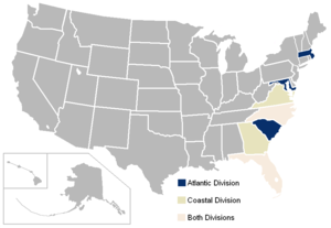 Atlantic Coast Conference locations