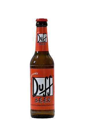 "Duff Beer - ""The Legendary Duff Beer"", brewed in Germany for Duff Beer UG"