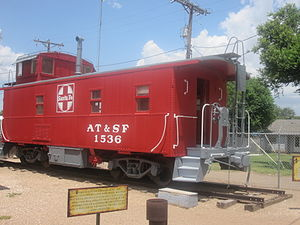 Deaf Smith County Historical Museum - Santa Fe caboose on museum grounds