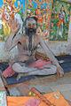 A Naga Sadhu covered in Bhasma, Vibhuti sacred ash.jpg